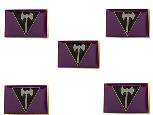 5 Pieces Lesbian Labrys Flag Pride Lapel Pin 20mm x 15mm LGBTQ