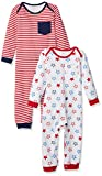 Amazon Essentials Baby-Overall, 2er-Pack, Uni Americana, US 24M (EU 86–92)
