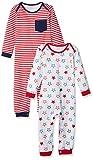 Amazon Essentials - Pack de 2 peleles para bebé, Uni Americana, US 18M (EU 80–86)