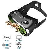 YAP Realidad Virtual Todo en uno Gafas VR Auriculares Gafas 3D Gafas de PC Virtual Auriculares Todo en uno VR para PS 4 Xbox 360 / One 2 K HDMI Nibiru Android 5.1 Pantalla 2560 * 1440