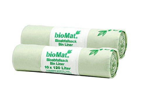 Sacs compostables à déchets BIOMAT® de 120 litres (20 pcs. de sacs à ordures)