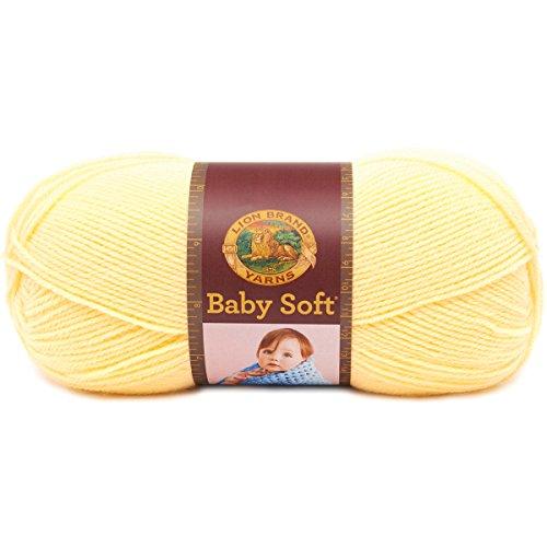 Lion Brand Yarn 920-160 Babysoft Yarn, Lemonade, 459 yd/420 m