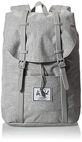 Herschel Unisex-Erwachsene Retreat Multipurpose Backpack, Hellgraue Schraffur/graue Gummi, Classic
