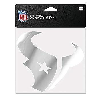 WinCraft NFL Houston Texans Chrome Perfect Cut Decal 6 x 6 Black