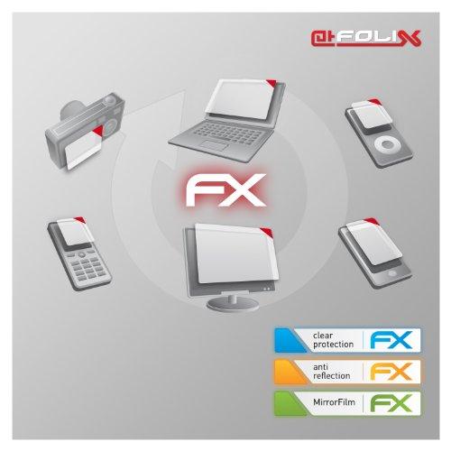 atFoliX Panzerfolie kompatibel mit Panasonic HC-X1 Schutzfolie, entspiegelnde und stoßdämpfende FX Folie (3X)