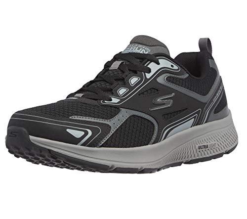 Skechers Herren Go Run Consistent Sneaker, Schwarz/Grau, 45 EU