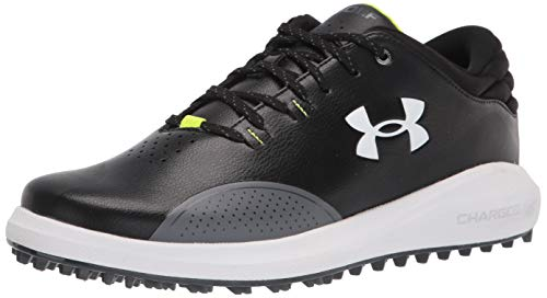 Under Armour Draw Sport Slide, Zapatos de Golf Hombre, Negro Pitch Gris Blanco 001, 44 EU