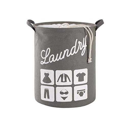 Laundry Baskets Große Wäschekorb Wäschekorb mit Kordelzug Wasserdichter Waschkorb Runder zusammenklappbarer Ablagekorb für Schlafzimmer Lagerung Baby Kleidung