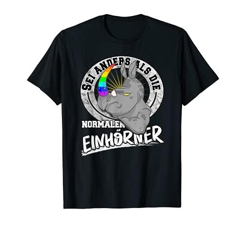 Unicornio de rinoceronte grueso arcoíris Camiseta