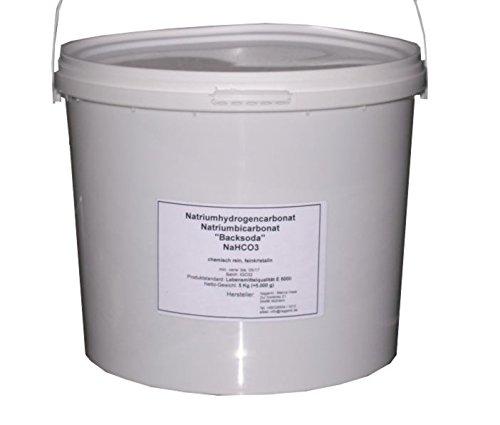 Natriumbicarbonat Natriumhydrogencarbonat (NaHCO3) 5 Kg, Typ W Lebensmittelqualität E500ii, fein