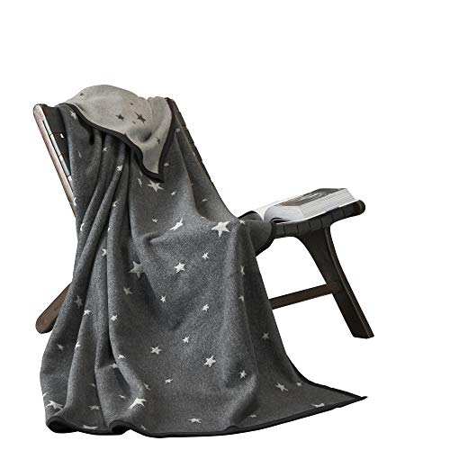 Ibena Wohndecke Baumwollmischung grau Größe 150x200 cm