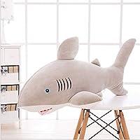 ぬいぐるみ、非常に柔らかいシミュレーション大きなサメのぬいぐるみ人形動物の枕眠っている子供人形,グレー,85cm