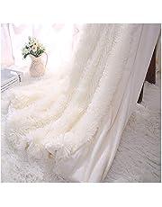 Kaihong - Manta acogedora de microfibra para sofá o cama, pelo sintético (130 x 160 cm, color blanco), poliéster, Blanco, 160 x 200 cm