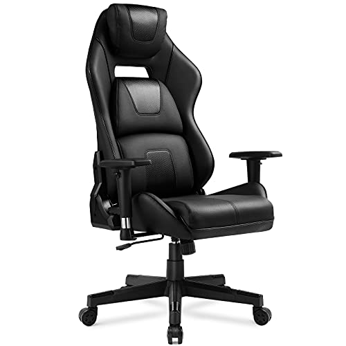 GTPLAYER Gaming Chair Ergonomic Triple Back Support Breatheable Mesh 360° Swivel 3D Armrest Height Adjustable 150° Reclining Rocking Computer Chair - Black
