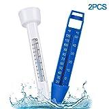 Bearbro Thermomètre de piscine flottant avec corde, thermomètre flottant pour piscines intérieures et extérieures, spas, jacuzzis, aquariums et bassins à poissons