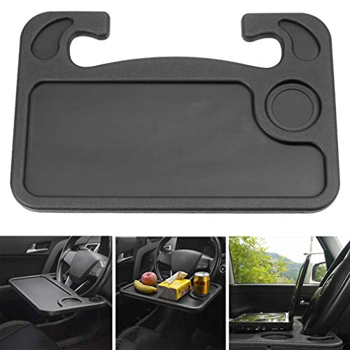 Keepus Car Multifunctional Main Driver Card Table - Auto Multifunktionstisch Lenkrad Tisch Laptop Schreibtisch für Lenkrad Beifahrersitz Schwarz Car Steering Wheel Desk (Black)