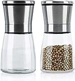ECOMP - Juego de 2 molinillos de sal y pimienta con mecanismo de cerámica...