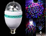 WHITE POPCORN LED Full Disco Stage DJ Lighting, Auto Rotating and Color Changing
