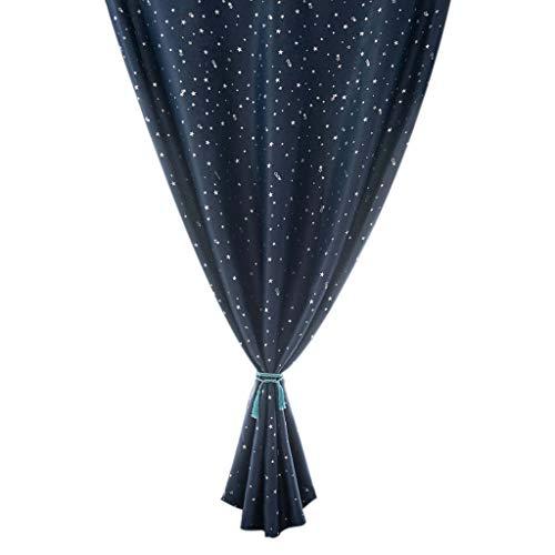 Xmiral Türvorhang Magic Tape Thermovorhang lichtdicht Gardine Dekoration für Kinderzimmer Wohnzimmer Schlafzimmer(A,100X130cm)