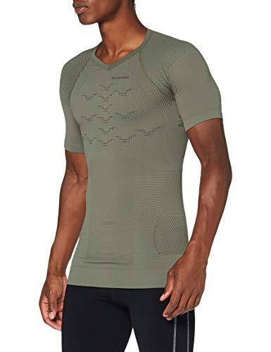 X-Bionic Combat Energizer 4.0, Camicia Maniche Corte Unisex – Adulto, Olive Green/Anthracite, L