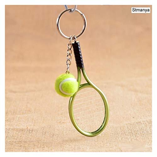 Yzymyd Llavero Mini Raqueta Tenis Colgante Llavero Llavero Llavero Anillo Finder Accesorios Accesorios Regalos para Adolescente Fan (Color : Green)