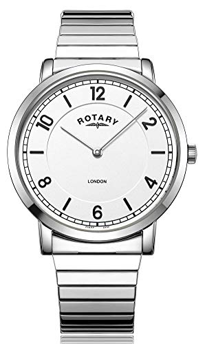 Rotary Ladies Watch 29mm London Silver Stainless Steel Expander LB00765/18