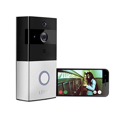 L & WB Intercom met deurbel en video, draadloos, 1080p HD, bidirectioneel geluid, WiFi-compatibel, bewegingssensor, nachtzicht, bell-aansluitbaar