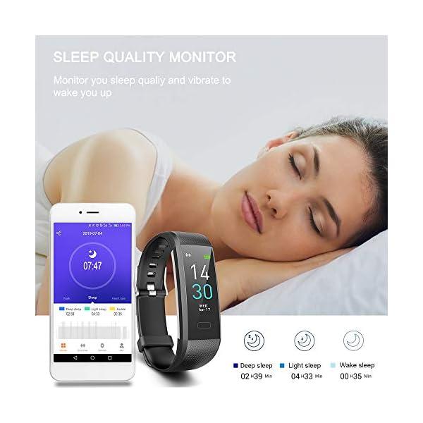 Pulsera de Actividad, Inteligente Reloj Deportivo, IP68 para Hombre Mujer con GPS Monitor de Sueño Podómetro Contador… 6