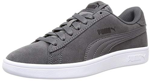 PUMA Smash v2, Zapatillas Unisex Adulto, Gris (Castlerock Black-White), 43 EU