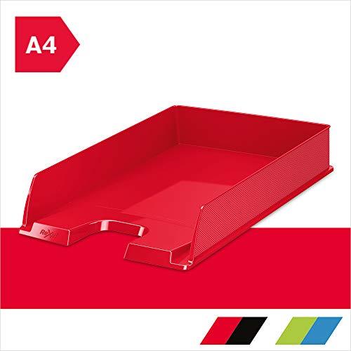 Rexel 2115599 - Bandeja de escritorio (Rojo, Carta, A4, 254 mm, 35 cm, 61 mm)