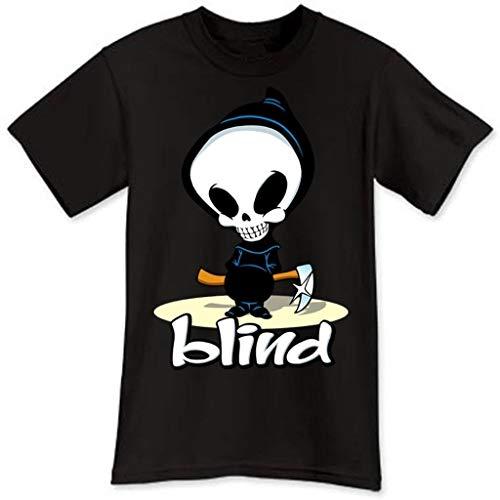 Fashion Blind Skateboard Logo Extreme Sport Zwart Heren T-Shirt Maat S-3XL