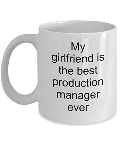 Gerente de producción, Gerente de producción Ideas de regalos, Taza de café, Mi novia es la mejor gerente de producción de todos los tiempos, Product Man
