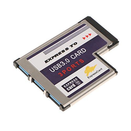 IPOTCH カードスロット 変換カード アダプター エクスプレスカード  拡張可能 USB 3.0 5V/900mA
