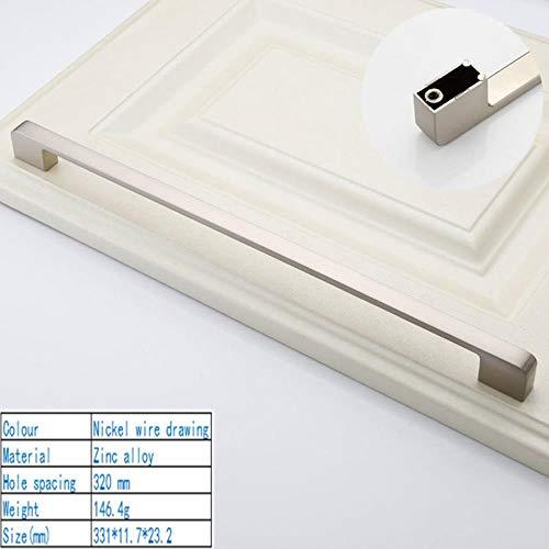 Amerikaanse stijl eenvoudige mode van hoge kwaliteit kast kast Schoen kast glazen deurklink voor high-end hardware home improvement, tekening 320 mm