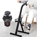 NAOKEY Pedal Plegable Ejercitor, Mini Brazo Pierna Ejercicio Bicicleta/Ciclo - Ejercitador de Bicicletas Estacionario Portátil para Hombres Ancianos, con Pantalla LCD Multifuncional