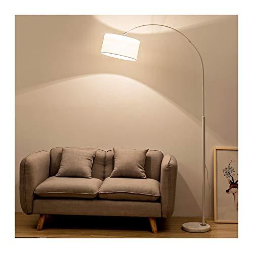 MLX Lámpara De Piso Moderna LED Lámpara De Pesca Vertical Blanca Hogar Personalidad Iluminación Sala De Estar Sofá Lámpara De Lectura Lámpara De Noche De Dormitorio QGLDD (Color : Button Switch)