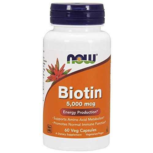 Biotin Biotina 5000mcg (60 Cápsulas Veganas) Now Foods