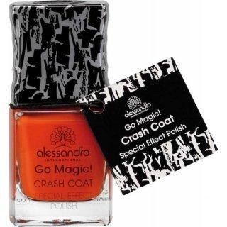Alessandro Go Magic! Crash Coat Special Effect Polish Top Coat Nr. 70-112 Crash Orange Inhalt: 10ml Nagellack der nach dem Auftragen aufbricht und ein individuelles Muster zaubert. Top Coat Nagellack