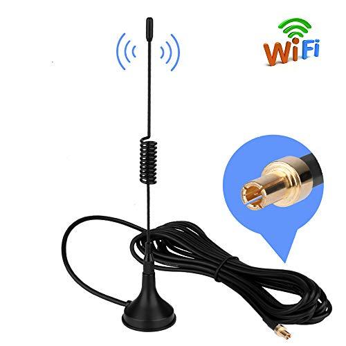4G Antenna TS9 Antenne LTE 10dBi Hochleistungs Netzwerk Verstärker-Antenne mit Magnet Standfuß 3m Kabel für 4G LTE WiFi Router Mobiles Handy-Booster Hotspot Huawei E5372 E398 E3276 E392 E3272 etc