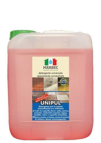 Marbec - UNIPUL 5LT | Detergente Universale igienizzante concentrato per Tutti i Tipi di Pavimenti e Rivestimenti