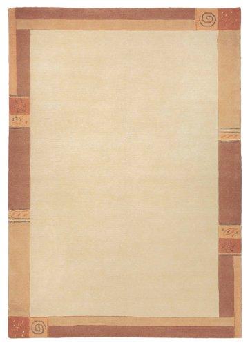 Sona-Lux Nepal Teppich handgeknüpft Vanilla Größe auswählen 70 x 140 cm