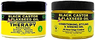 Eco Style Black Castor Oil & Flaxseed Oil Hair Bundle (GEL&CONDITIONER)