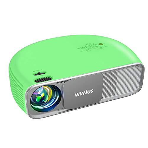 "Proiettore, Bluetooth 7200 lumen Nativa 1920x1080P Full HD, WiMiUS S4 Home Cinema Videoproiettore LED, AC3 & 4K supportato, 300"" Schermo Gigante, per Fire TV Stick, PS4, PC, iPhone, tablet, DVD"