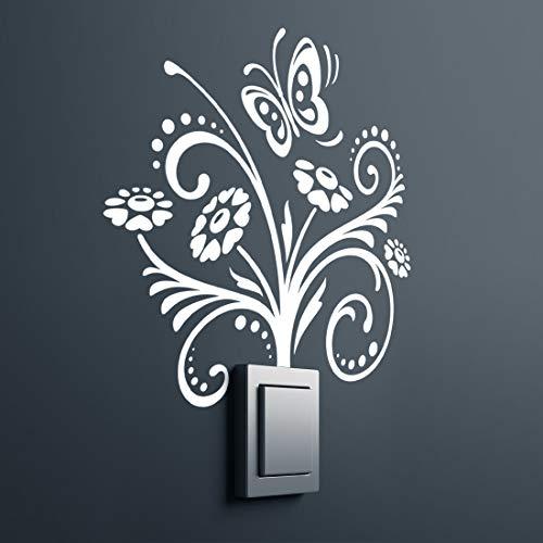 Pegatinas de pared de flores para dormitorio, papel de pared, decoración de flores, decoración floral, decoración de paredes, accesorios para el hogar, muebles, transferencias de cocina, papel