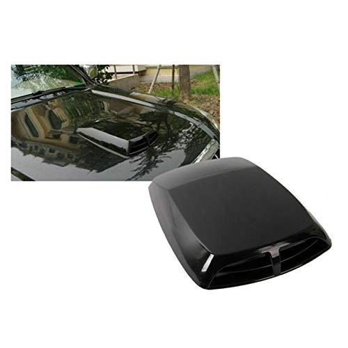 GIAOGIAO Capó de ventilación universal para coche o camión, capó de entrada de aire, capó de ventilación, cubierta decorativa para coche, capó de ventilación (color: negro)