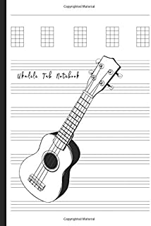 Ukulele Tabs Notebook: Composition and Songwriting Ukulele Music Song with Chord Boxes and Lyric Lines Tab Blank Notebook Manuscript Paper Journal ... Musician with Hawaiian Ukulele Guitar Theme