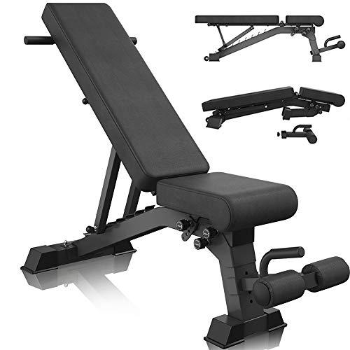 ZYQDRZ Verstellbare Fitnessbank, Hochleistungs-klapp-hantelbank, Breiterer Rücken/Sitz, Sitzbankdrücken, Fitnessgeräte Für Ganzkörperübungen