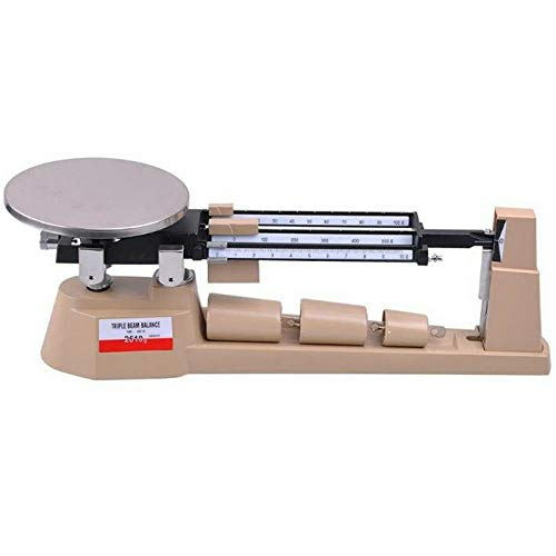Genuine store 2610gX0.1g Triple Beam Pan Mechanical Triple Beam Balance Scale for Laboratories and Classrooms - Lab Analytical Weighing - Stainless Steel Plate - Capacity 610g to 2610g