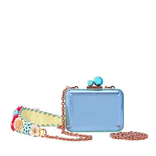 Sophia Webster Vivi Lilico Crystal Box Clutch Bag- Blue