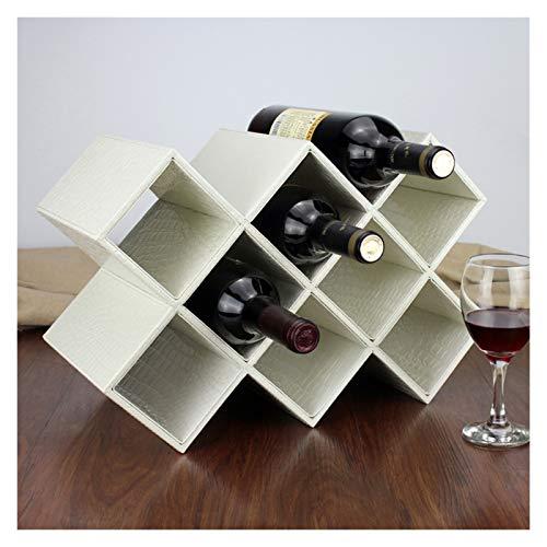ZRJ Racks De Vino Almacenamiento De Vino Tenedor De Botella De Vino De 10 Botellas Decoraciones De Encimera para Despensa Cocina Comedor (Color : White)